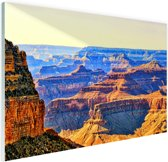 Uitizicht over Grand Canyon Glas 120x80 cm - Foto print op Glas (Plexiglas wanddecoratie)