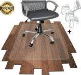 Luxergoods bureaustoelmat PVC - Inclusief hoekbeschermers bureau - Vloermat bureaustoel - Antislipmat - Vloerbeschermer - Stoel onderlegger - Voor harde vloer - Voor vloerbedekking - 90x120cm