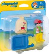 Playmobil 123 Arbeider met kruiwagen - 6961