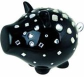 Bling money box black (Oink Salt & Pepper)
