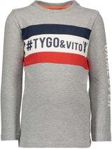 Tygo&Vito Jongens t-shirts & polos Tygo&Vito T&v t-hirt LS cut & sewn #TYGO&vito grijs 92