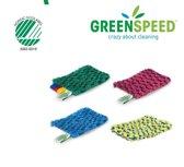 Handscrubby Flex van Greenspeed, de unieke wasbare schuurspons. Set van 4 stuks.