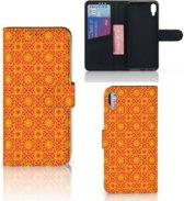 Sony Xperia L3 Telefoon Hoesje Batik Orange