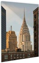 Manhattan Wolkenkrabbers Glas 40x60 cm - Foto print op Glas (Plexiglas wanddecoratie)