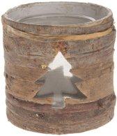Houten Waxinelichthouder Kerstboom