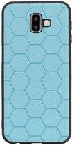 Wicked Narwal | Hexagon Hard Case voor Samsung Samsung Galaxy J6 Plus Blauw