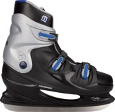 Nijdam 0099 IJshockeyschaats XXL - Hardboot - Maat 47 - Zwart/Blauw