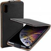 MP case Eco Leder Apple iPhone Xr flip case zwart hoesje