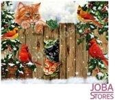 """Diamond Painting """"JobaStores®"""" Kerst Katten - volledig - 30x40cm"""
