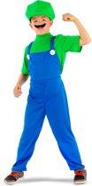 Super Loodgieter - Groen - Kinderkostuum - Verkleedkleding - Maat L - Carnavalskleding