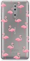 Nokia 8 Hoesje Flamingo