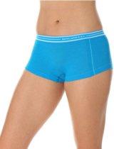 Brubeck | Active Wool - Dames Thermo  Boxershort met Merino Wol - Seamless -Lichtblauw-L