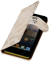Lace Wit Huawei Ascend G6 4G - Book Case Wallet Cover Hoesje