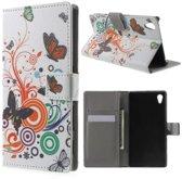 Sony Xperia Z5 vlinders kleuren agenda wallet hoesje
