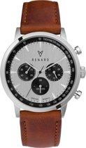Renard Grande Chrono Silver Black RC402SS13PCN - Horloge - Bruin - 40mm