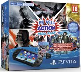 Sony PlayStation Vita PCH-2000 Handheld Console WiFi + Action Mega Pack Download Voucher + 8GB Memory Card - Zwart PS Vita Bundel