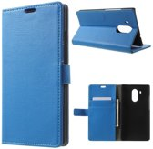 Litchi Cover wallet case hoesje Huawei Ascend Mate 8 blauw