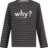 Noppies Unisex Slimfit T-shirt met lange mouwen Pocatello - Phantom - Maat 104