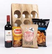 Kerstpakket - Kerst cadeau pakket - Kerst gift set   Wijn met wijnrek