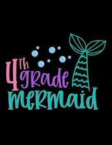 4th Grade Mermaid: Daily Homework Planner Organizer and Monthly School Calendar, Write and Check Off Assignments Elementary School