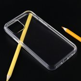 Let op type!! Shockproof Solid Color TPU Protective Case for iPhone 11 Pro Max (Transparent)
