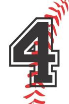 4 Journal: A Baseball Jersey Number #4 Four Notebook For Writing And Notes: Great Personalized Gift For All Players, Coaches, And