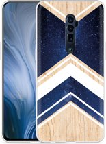 Oppo Reno 10X Zoom Hoesje Space wood