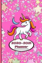 Glitter and Unicorn Planner 2020-2021 Weekly and Monthly: Calendar Schedule Organizer and Journal Notebook With Cute Cover