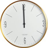 House Doctor Clock Couture - Klok - Rond - Aluminium - Ø30 cm - Wit
