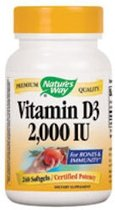 Natures Way Vitamine D3 2000 IU