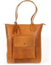 Castillo - Leren Shopper - 13,3 inch - Medira - cognac