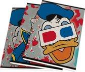 Schriften A5 Donald Duck gelijnd 3 stuks