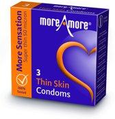 MoreAmore Thin Skin - 3 stuks - Condooms