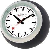 Mondaine Globe Black A660.30335.16SBB Tafelklok - Siliconen - Zwart - Ø60 mm
