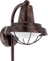 EGLO Vintage Colindres - Buitenverlichting - Wandlamp - 1 Lichts - Koperkleurig