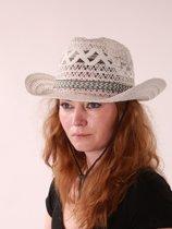 Wit gekleurde cowboy hoed.