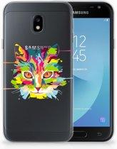 Samsung Galaxy J3 2017 Uniek TPU Hoesje Cat Color