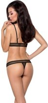Passion woman sets - lingerieset - zwart - string - BH - 75% polyester - L|XL