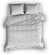 Romanette Duchesse flanel dekbedovertrek - Silver/Wit - Lits-jumeaux (270x200/220 cm + 2 slopen)