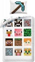 Minecraft Dekbedovertrek - eenpersoons - 140 x 200 -