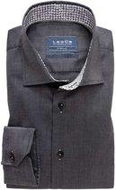 Ledub hemd tailored fit donker grijs, maat 39