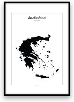 Griekenland landposter - Zwart-wit