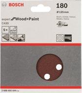 Bosch - 5-delige schuurbladenset 125 mm, 180