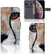 iPhone 11 Telefoonhoesje met Pasjes Cheetah