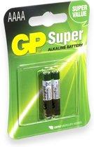 GP Batteries niet-oplaadbare batterijen Batterie Alkaline AAAA / 02er Blister