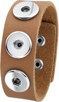 More Chunks - Stalen chunks armband lichtbruin