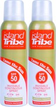 Island Tribe SPF 50 invisible continuous clear gel spray 2 x 125 ml
