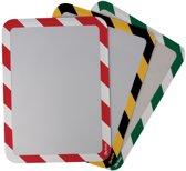 3x Tarifold tas met magnetische strips, A4, geel/zwart, pak a 2 stuks