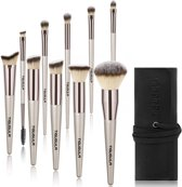 Professionele 10-Delige Make Up Kwasten Set - Foundation Kwast Concealer Blush Brush Rose Gold