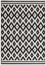 Kayoom Now Vloerkleed 80x150 Zwart/Creme